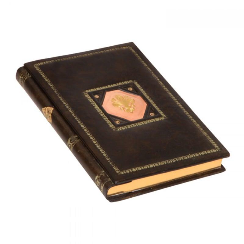 Ежедневник в кожаном переплете Sienna brown leather