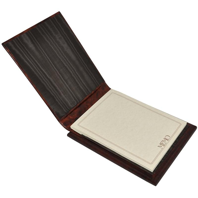 Кожаный блокнот Leonardo brown leather