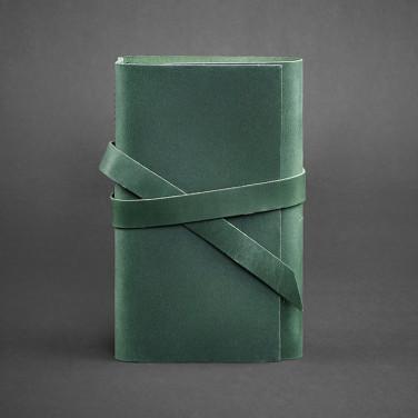 Кожаный блокнот дизайнерский женский Diary Green Leather