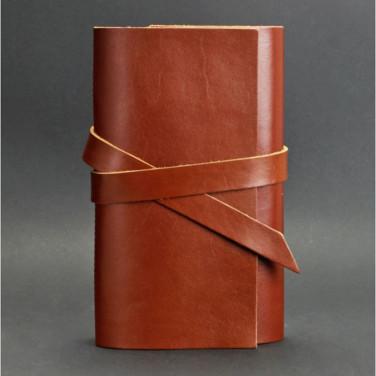 Шкіряний блокнот handmade жіночий Diary Brown Leather