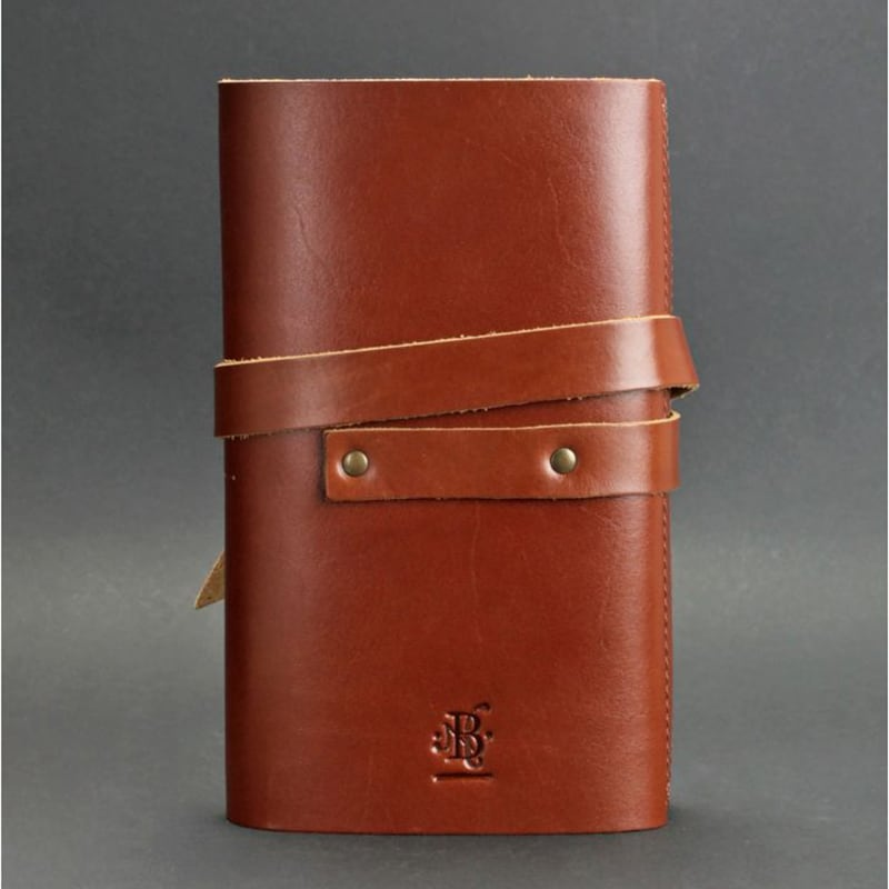 Кожаный блокнот handmade женский Diary Brown Leather