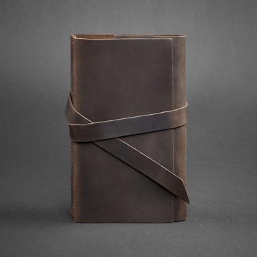 Блокнот в шкіряній палітурці жіночий Diary Brown Leather