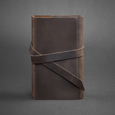 Блокнот в кожаном переплете женский Diary Brown Leather