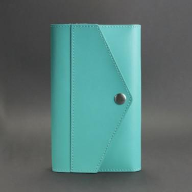 Шкіряний блокнот ручної роботи жіночий Notebook Turquoise Leather