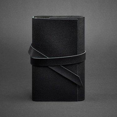 Шкіряний блокнот ручної роботи жіночий Diary Black Leather