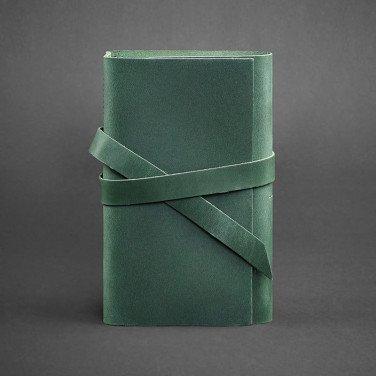 Шкіряний блокнот дизайнерський жіночий Diary Green Leather