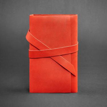 Блокнот в шкіряній палітурці жіночий Diary Red Leather