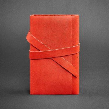 Блокнот в кожаном переплете женский Diary Red Leather