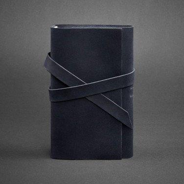 Ежедневник в кожаной обложке женский Diary Dark Вlue Leather