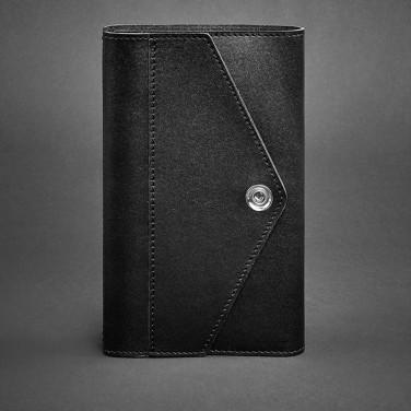 Блокнот в шкіряній палітурці жіночий Notebook Black Leather