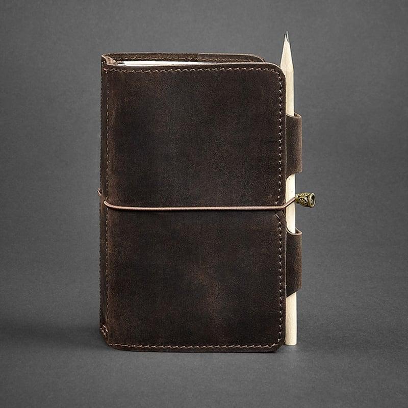 Шкіряний блокнот ручної роботи жіночий SoftBook Brown Leather