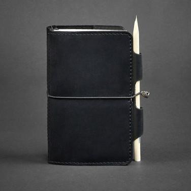 Ежедневник в кожаной обложке женский SoftBook Black Leather