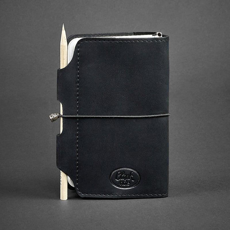 Щоденник у шкіряній обкладинці жіночий SoftBook Black Leather