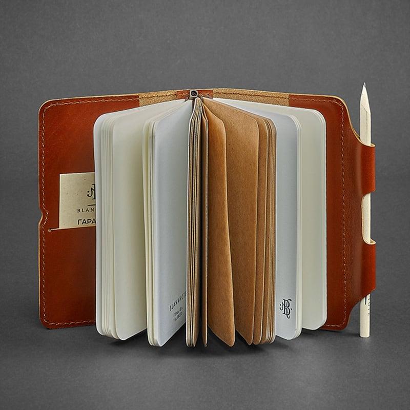 Блокнот в шкіряній палітурці жіночий SoftBook Brown Leather