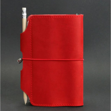 Кожаный блокнот ручной работы женский SoftBook Red Leather