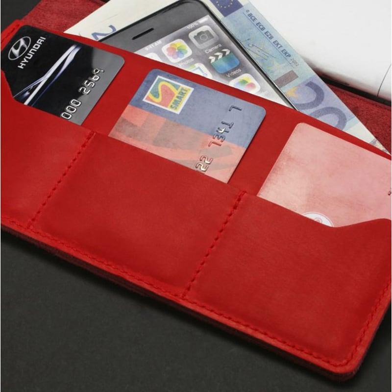 Кожаный блокнот handmade Sketchpad Red Leather