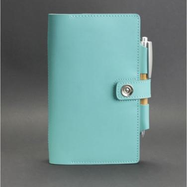 Блокнот в шкіряній палітурці жіночий Sketchpad Turquoise Leather
