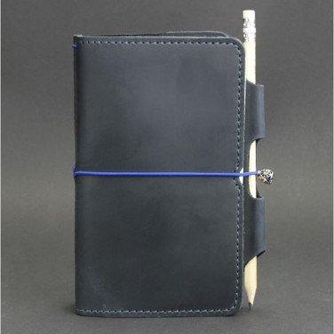 Ежедневник в кожаной обложке SoftBook Dark Blue Leather