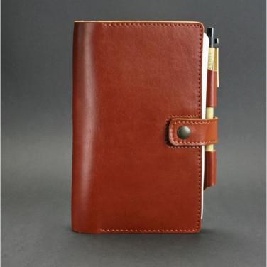 Кожаный блокнот дизайнерский женский Sketchpad Brown Leather
