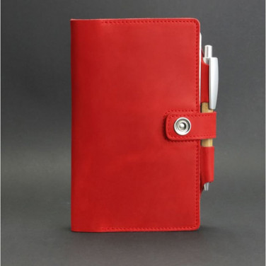 Кожаный блокнот handmade Sketchpad Red Leather
