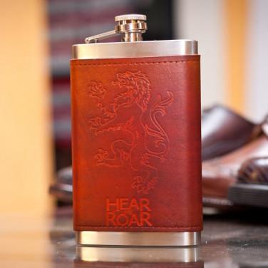 Фляга подарункова Гра Престолів Лев Ланністеров red leather