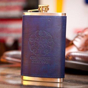 Фляга для алкоголя handmade Игра Престолов Роза Тиррелов purple leather