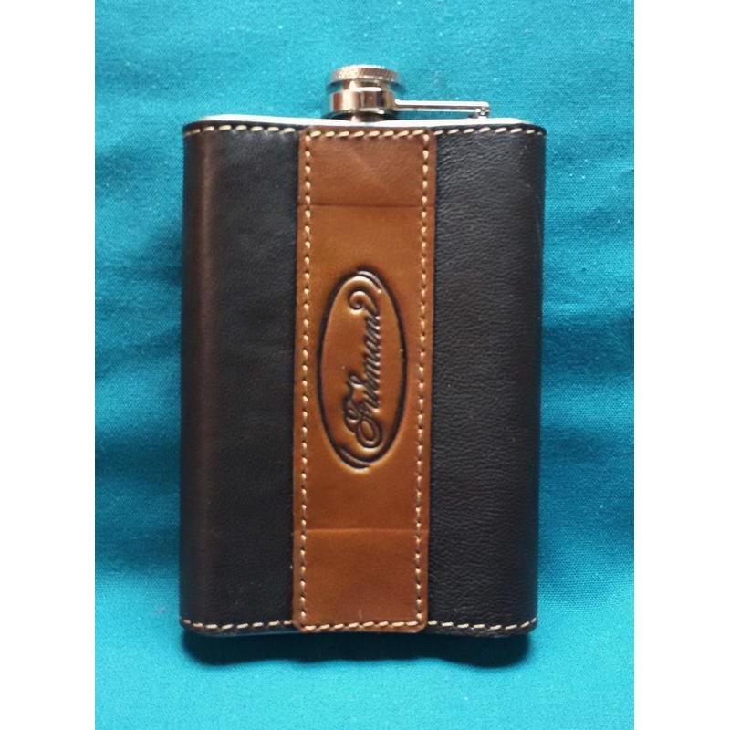 Фляга для алкоголю handmade Грифон brown leather
