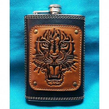 Фляга армейская Тигр brown leather