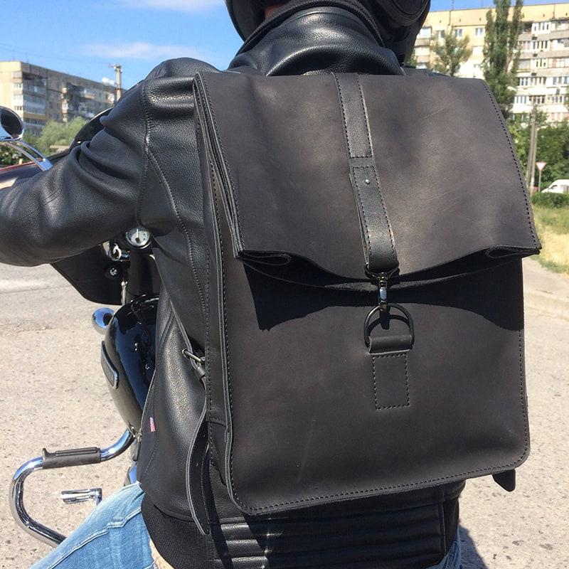 Рюкзак мужской Вackpack Black Leather