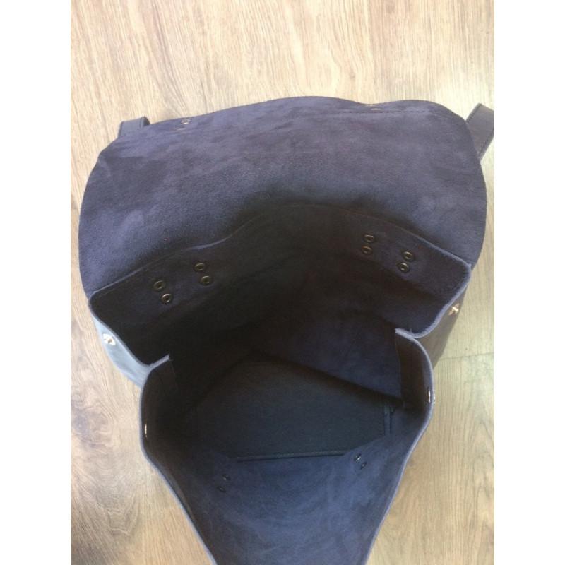 Кожаный рюкзак мужской Вackpack Вlue Leather