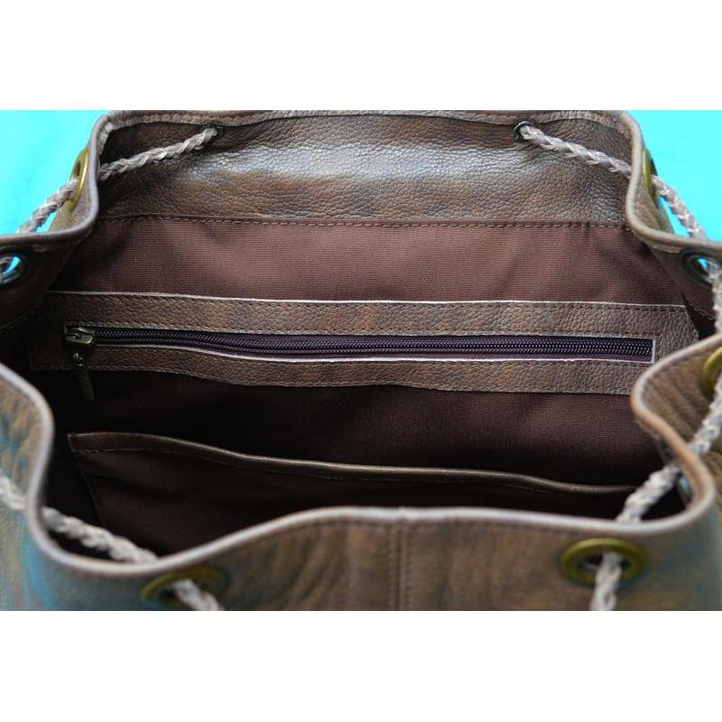 Шкіряний рюкзак чоловічий Celtic Brown Leather