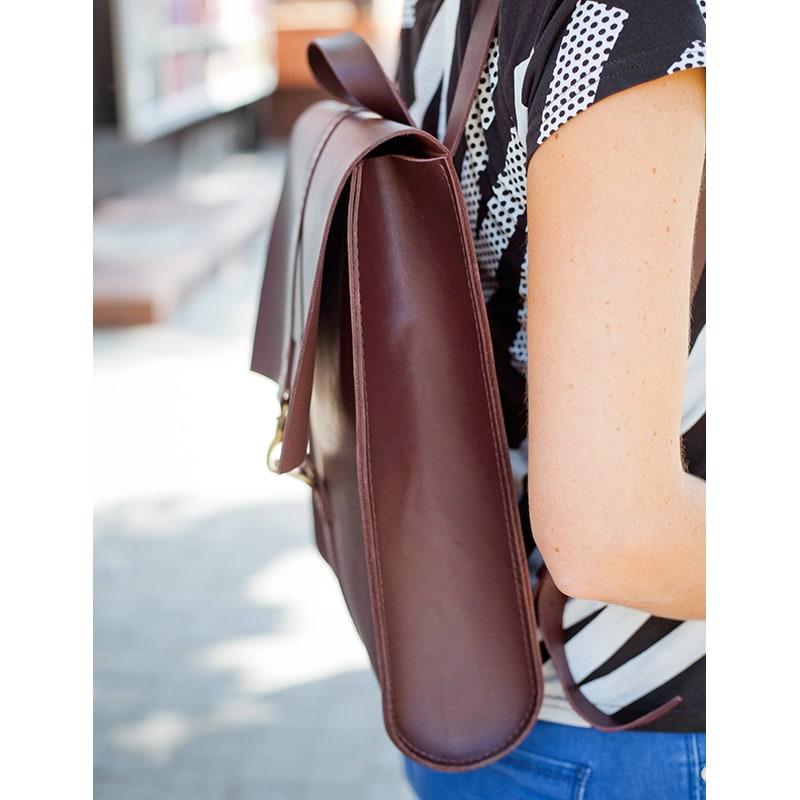 Рюкзак женский Вackpack Bordeaux Leather