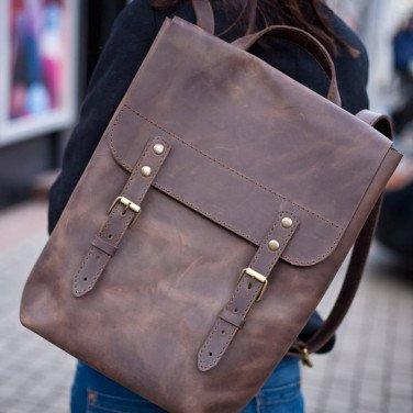 Сумка рюкзак женская Вackpack Vintage Brown Leather