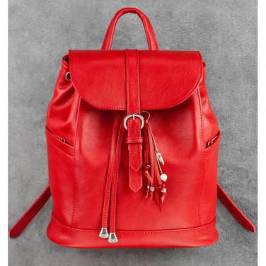 Рюкзак шкіряний авторський жіночий Васкраск Red Leather
