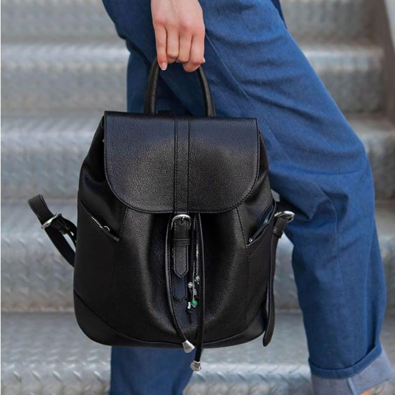 Сумка рюкзак жіночий Васкраск Black Leather