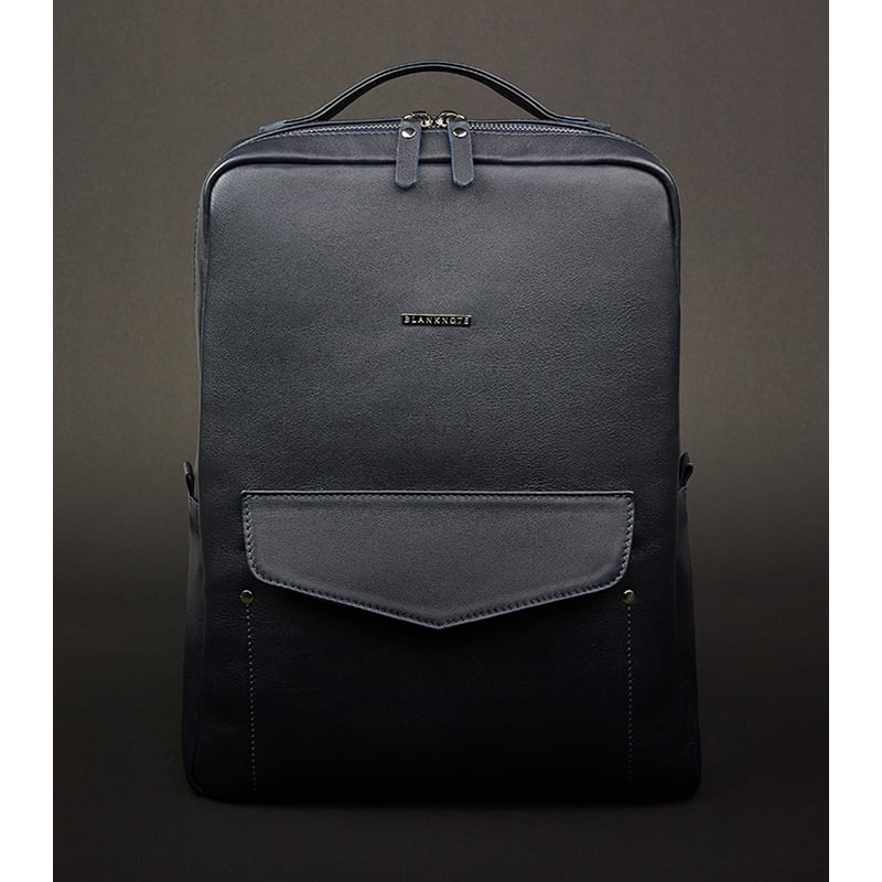 Рюкзак кожаный женский Вackpack Dark Blue Leather