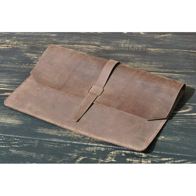 Чехол кожаный для ноутбука или Макбук brown leather