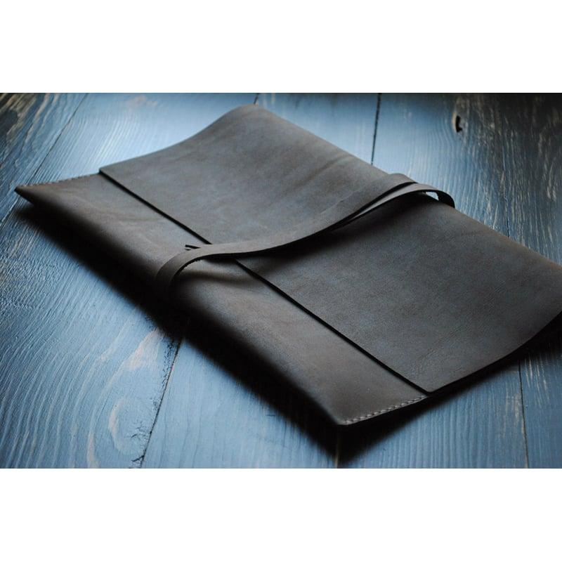 Чехол для ноутбука или Макбук black leather