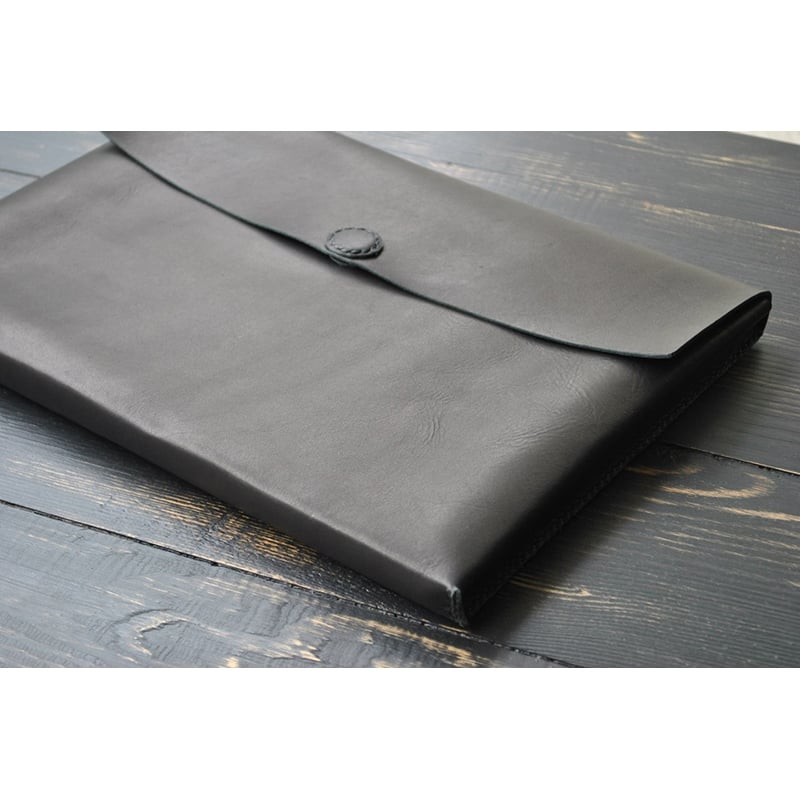 Чехол кожаный для ноутбука или Макбук black leather