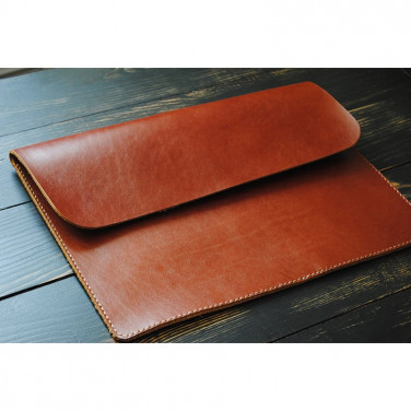 Чехол для ноутбука или Макбук brown leather