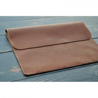 Чохол шкіряний для ноутбука або Макбук brown leather