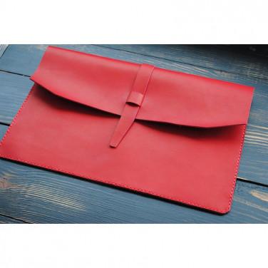 Чехол для ноутбука или Макбук red leather