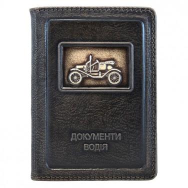 Обложка для документов водителя Rolls-Royce black leather
