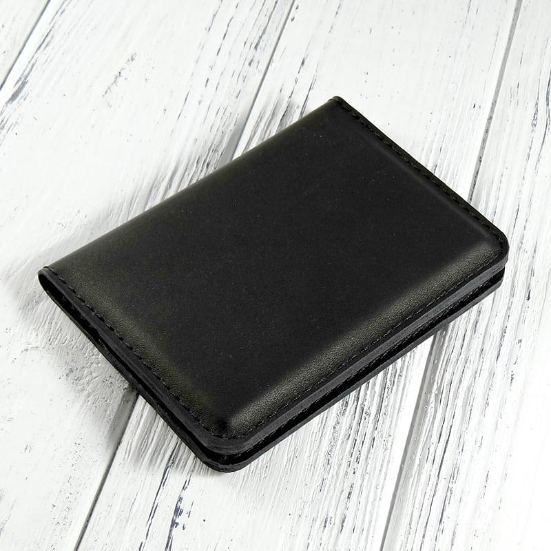 Кожаный органайзер для документов Voyage black leather