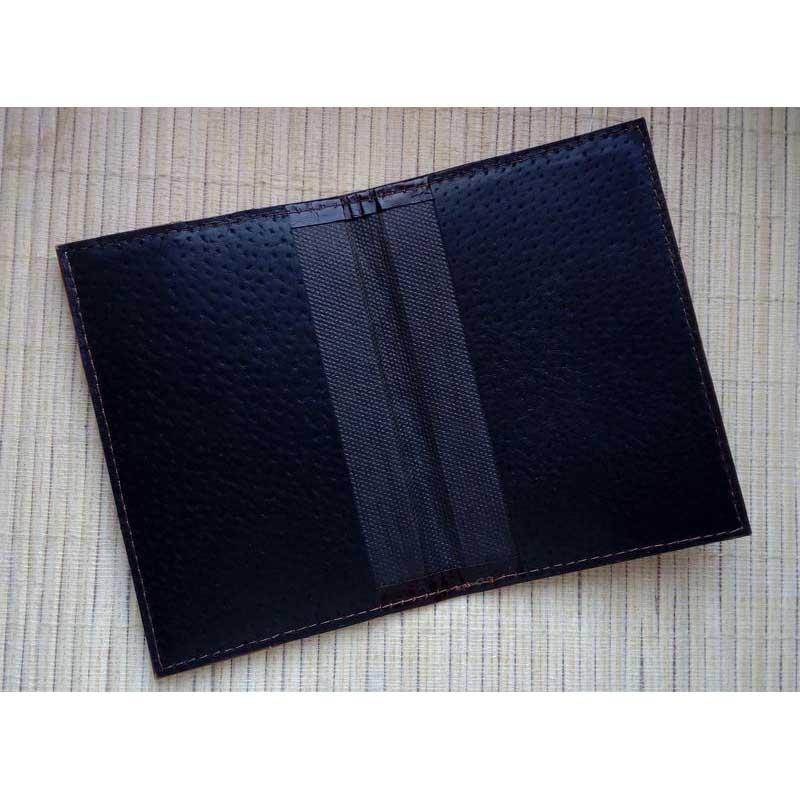 Обложка на паспорт кожаная Passport brown leather