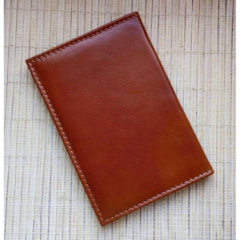 Обложка на паспорт кожаная Document brown leather