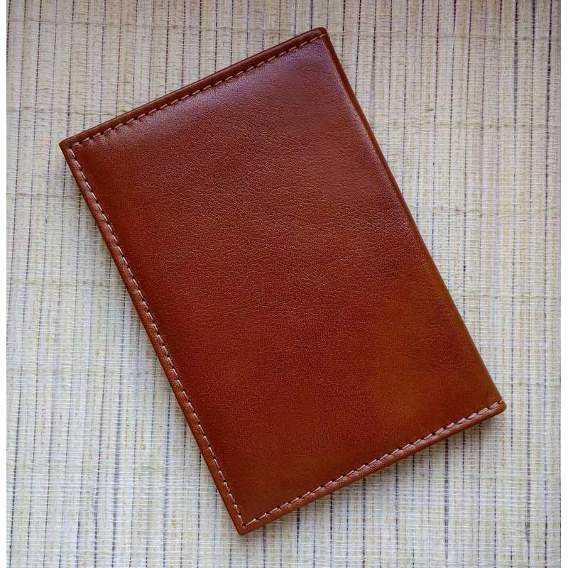 Обложка на паспорт кожаная Griffin brown leather