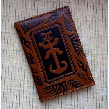 Обложка на паспорт Amulet brown leather