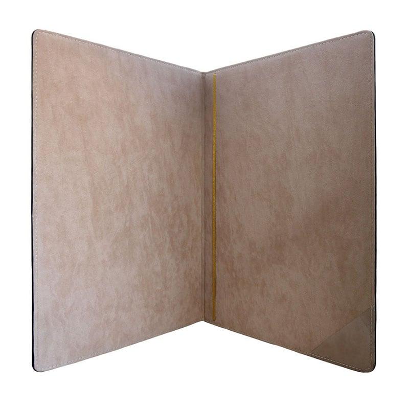 Адресна шкіряна папка Герб України brown leather