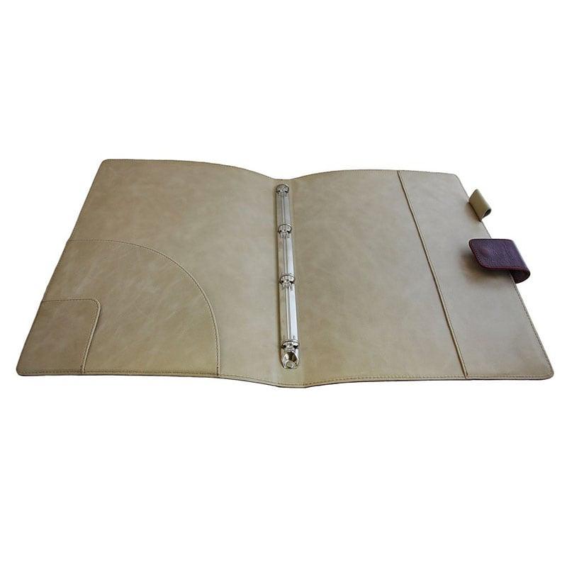 Папка кожаная для документов Folder brown leather